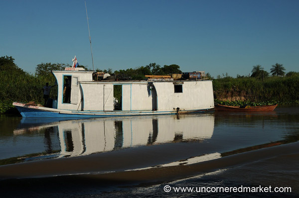 Chugging Up River - Boat Trip on Rio Paraguay