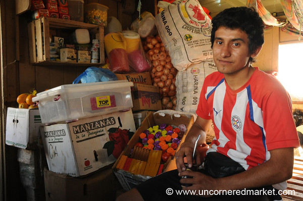 Friendly Shopkeeper - Boat Ride Along the Rio Paraguay