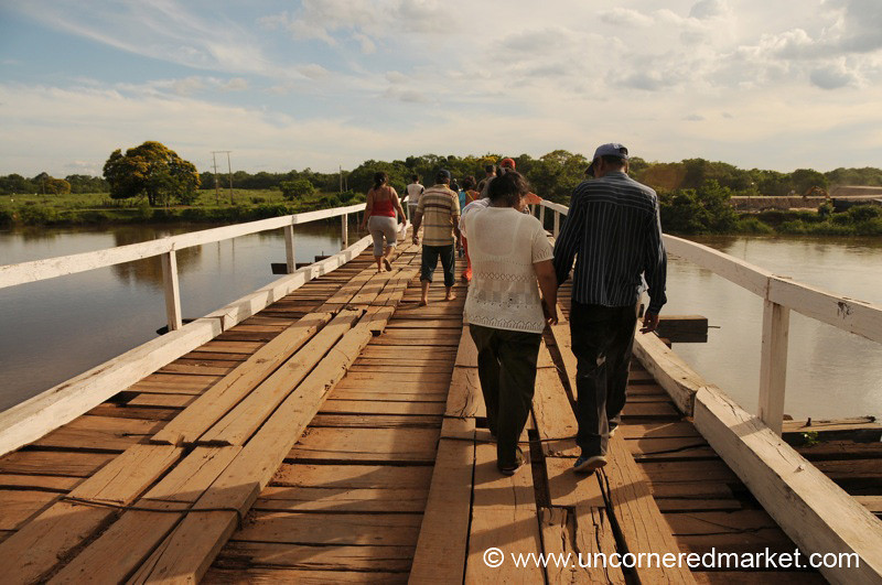 Walking Across the Bridge - Outside Concepcion, Paraguay