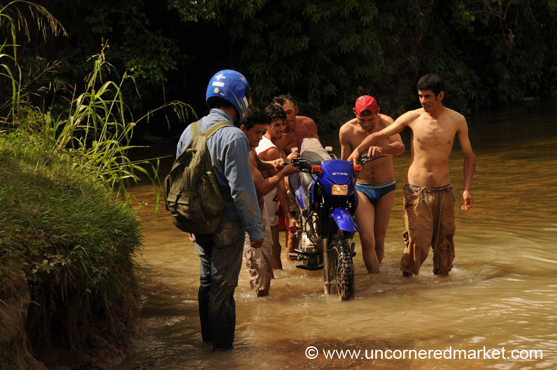 Careful With the Motorbike - Vallemi to Concepcion, Paraguay