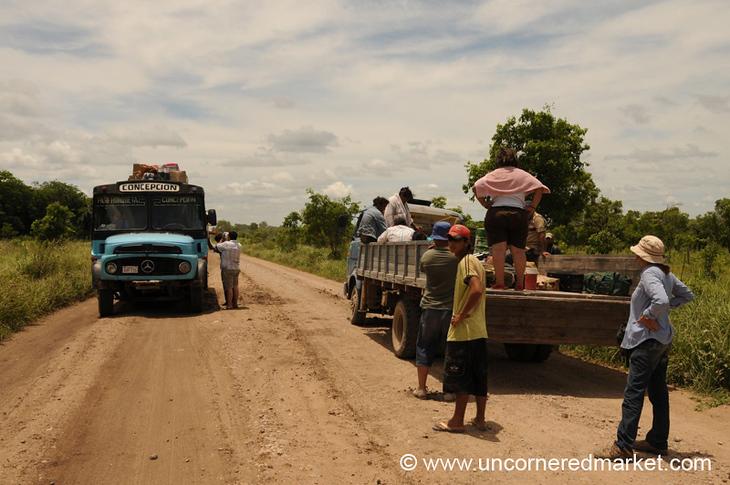 Truck vs. Bus - Vallemi to Concepcion, Paraguay
