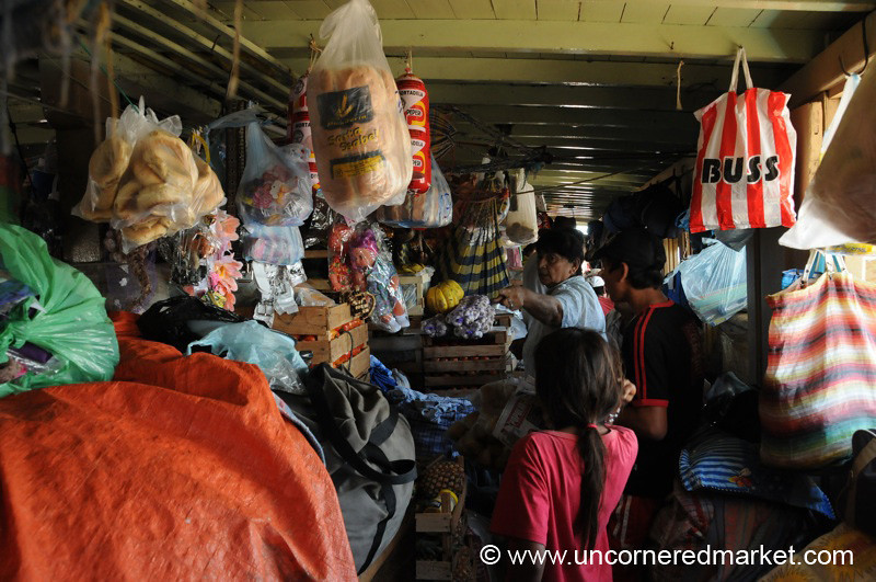 Shopping at the Market on a Boat Trip Along the Rio Paraguay, Paraguay