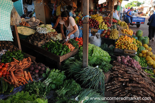 Veggies and Fruits Stacked High - Concepcion, Paraguay
