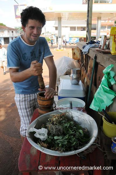 How to Make Tereré - Encarnacion, Paraguay