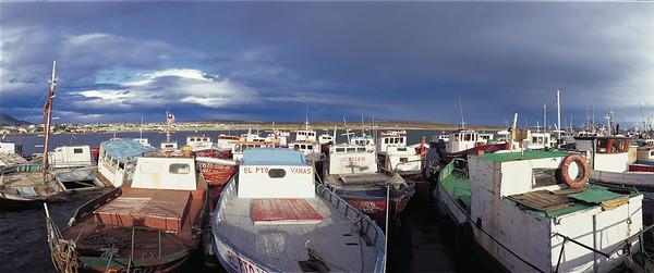 Boat harbor, Puerto Natales.