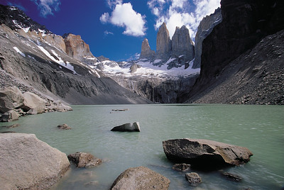 Mirrador las Torres. Torres del Paine National Park, Patagonia, Chile