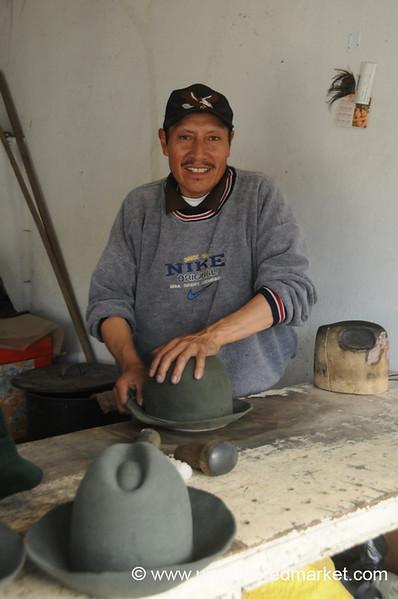 Making Hats - Saquisili, Ecuador