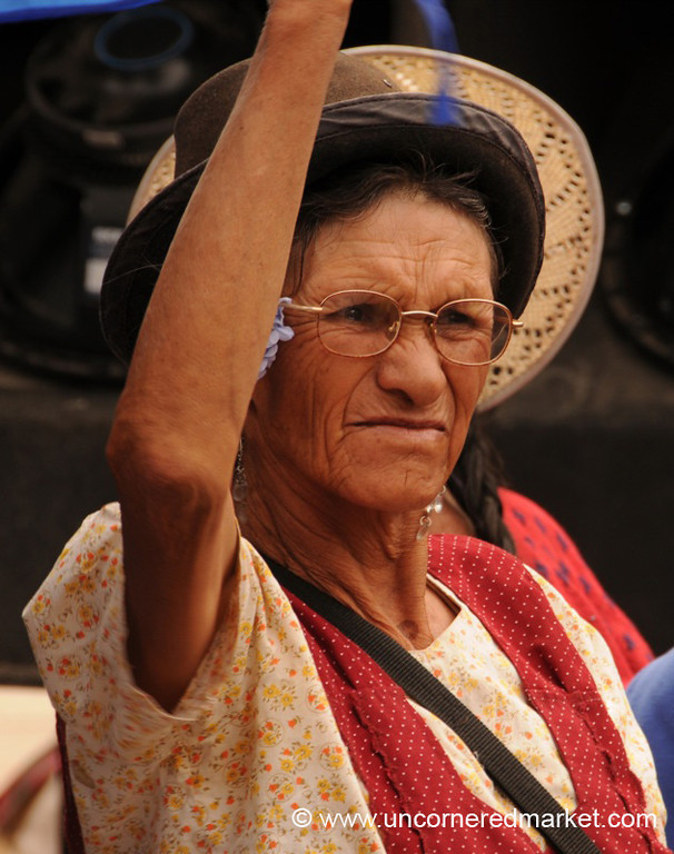 A MAS Supporter - Political Rally in Tupiza, Bolivia
