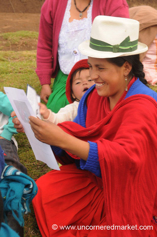 Happy to See Her Photo - Outside Cuenca, Ecuador