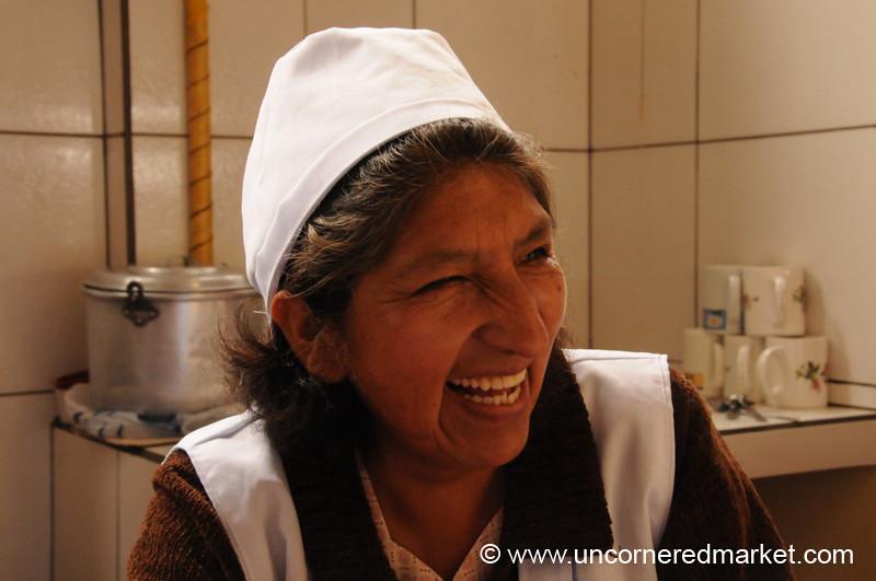 Smile at the Canteen - Tarija, Bolivia
