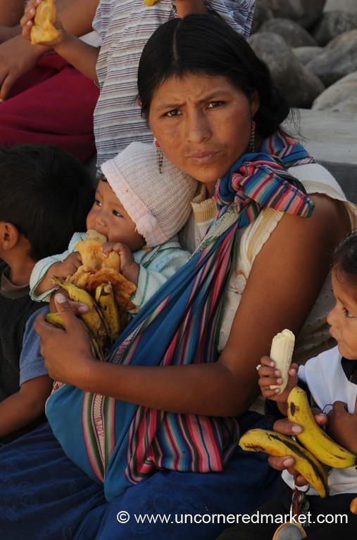 Breakfast with Baby - Tarija, Bolivia