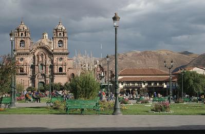 Templo Compania de Jesus at the Plaza de Armes