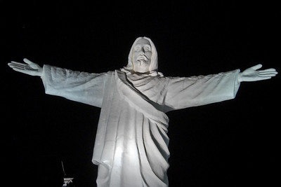 A statue of Christ overlooking the town...