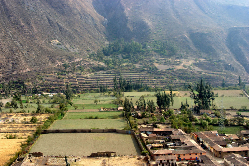 <center>Terraces Across the Valley    <br><br>Ollantaytambo, Peru</center>