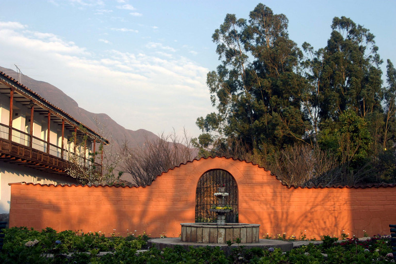 <center>Fountain Behind the Hotel   <br><br>Sacred Valley, Peru</center>