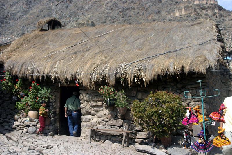 <center>House in Ollantaytambo    <br><br>Ollantaytambo, Peru</center>