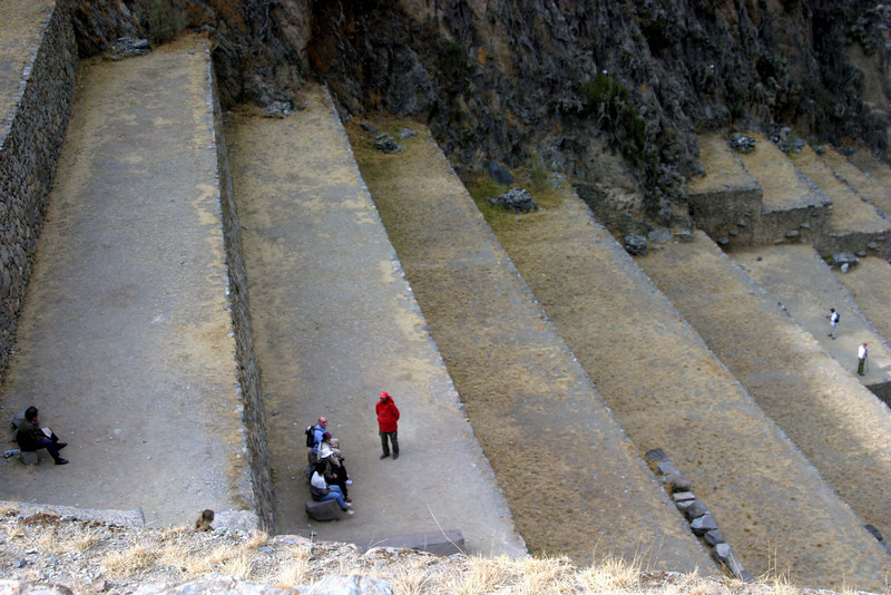 <center>Looking Down at the Terraces    <br><br>Ollantaytambo, Peru</center>