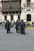 <center>Riot Police Patrol the Plaza    <br><br>Lima, Peru