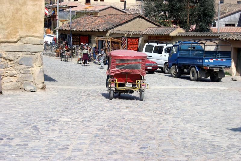 "<center>""Tiko"" - 3-wheeled Vehicle    <br><br>Ollantaytambo, Peru</center>"