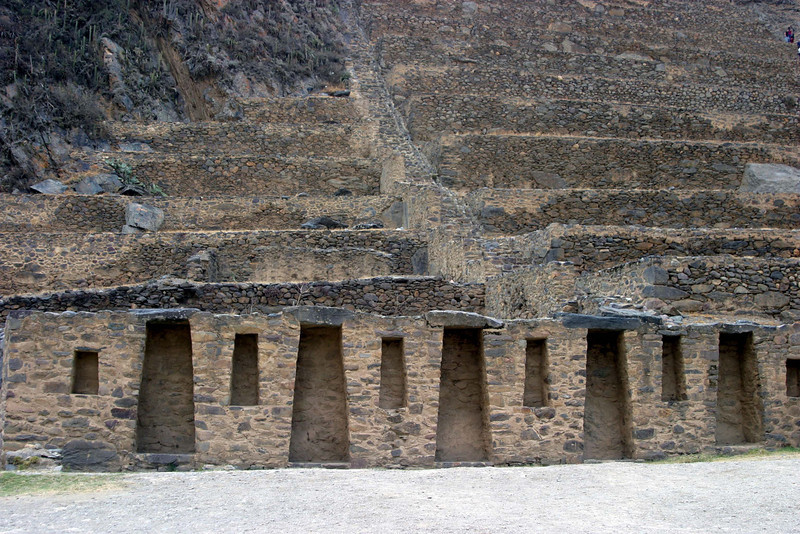 <center>More terraces    <br><br>Ollantaytambo, Peru</center>