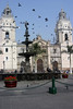 <center>Pigeons and the Fountain    <br><br>Lima, Peru