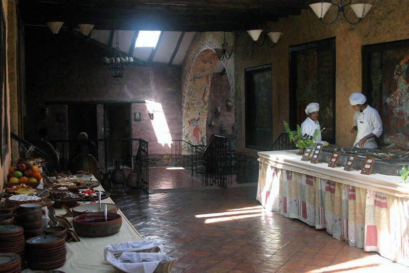 <center>Inside the Restaurant    <br><br>Pisac, Peru</center>