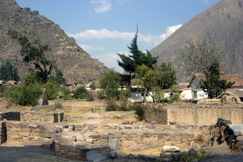 <center>Village of Ollantaytambo    <br><br>Ollantaytambo, Peru</center>