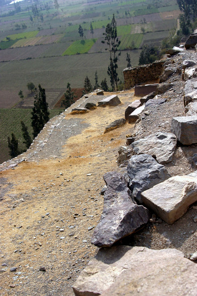 <center>Ramp Used to Build the Temple    <br><br>Ollantaytambo, Peru</center>