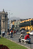 <center>Looking up the Main Street    <br><br>Lima, Peru