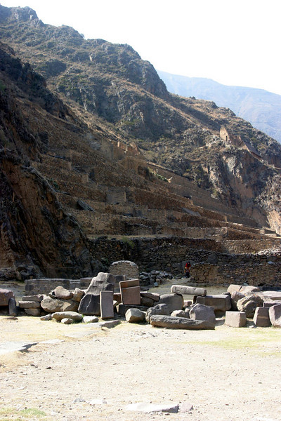 <center>Terraces at the Temple    <br><br>Ollantaytambo, Peru</center>
