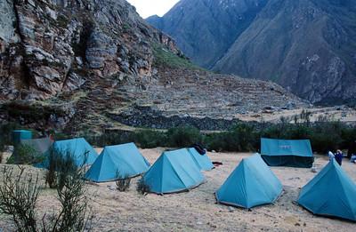 Campsite at Llactapata Ruins