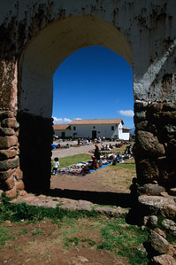 Ruins with weekly market in Chinchero