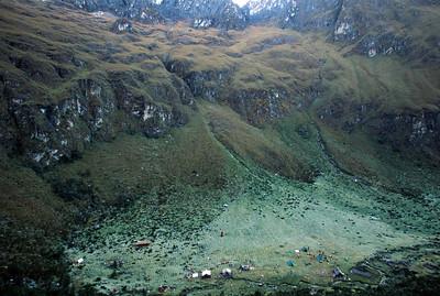 Campsite at  Llulluchapampa, Inca Trail to Machu Picchu
