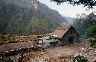 Farm house on way to Inca Trail leading to Machu Picchu