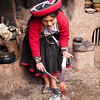 Chinchero - Awana Wasi<br /> ... she shows how they can change the color to red simply by adding salt to the purple dye.