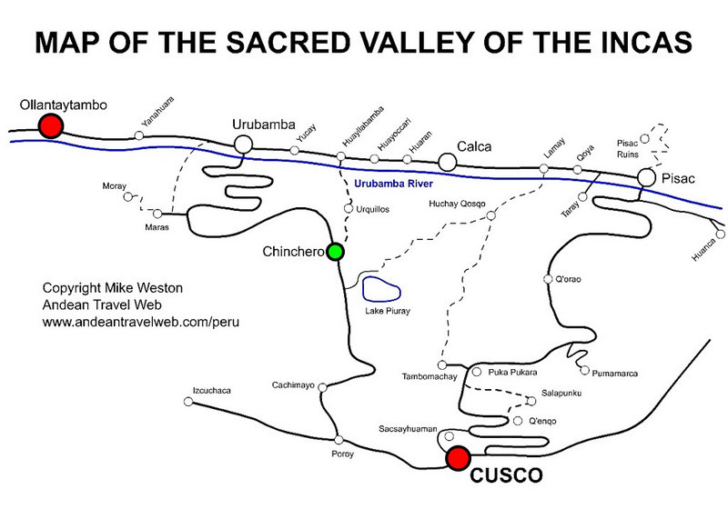 Our route today takes us through Poroy to Ollantaytambo. <br /> On the way, we spend the morning in Chinchero.