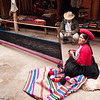 Chinchero - Awana Wasi<br /> Two of the weavers demonstrate how they weave long lengths of fabric.