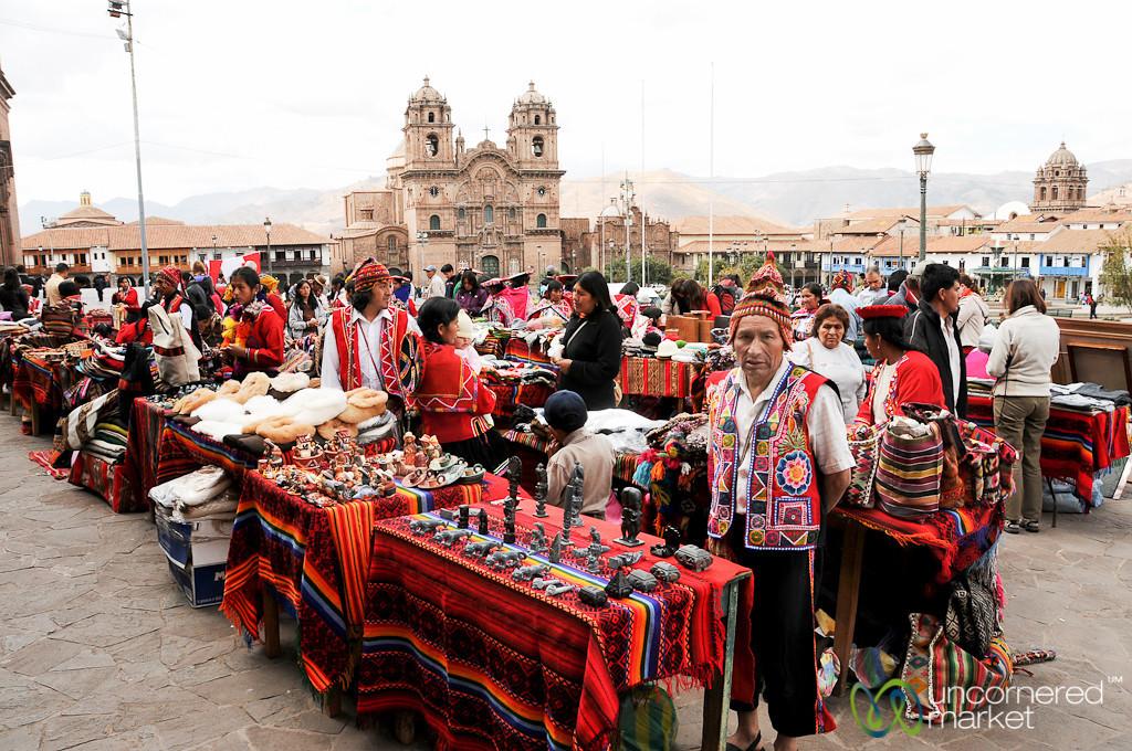 Indigenous Crafts Market on Main Square - Cusco, Peru