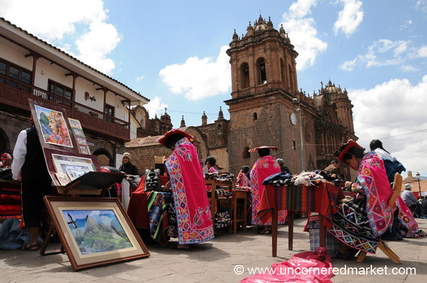 Handicrafts on Cusco's Main Square - Peru