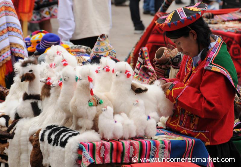 Fuzzy Llama Toys - Cusco, Peru