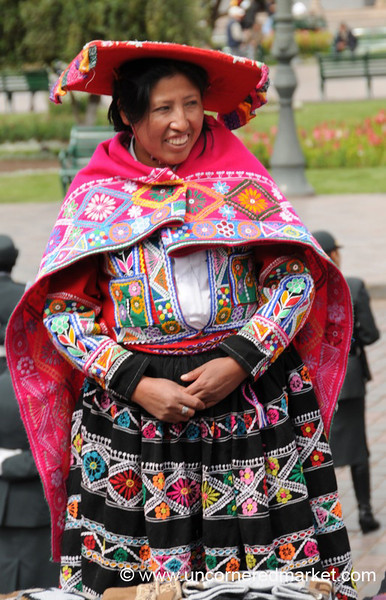 Beautiful Colors and Smile - Cusco, Peru