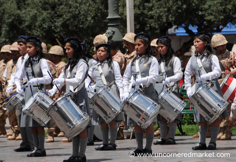 Drumming Team - Cusco, Peru