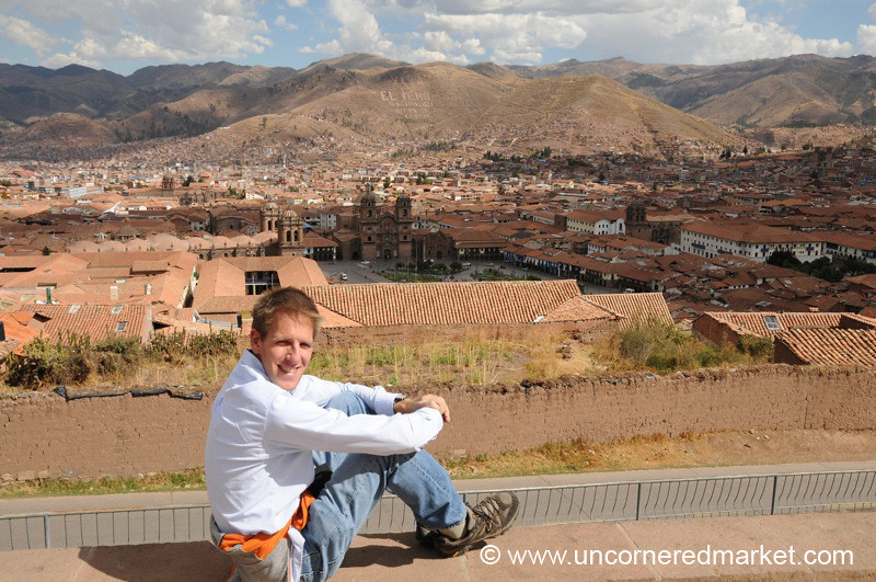 Dan Looks Out Over Cusco - Peru