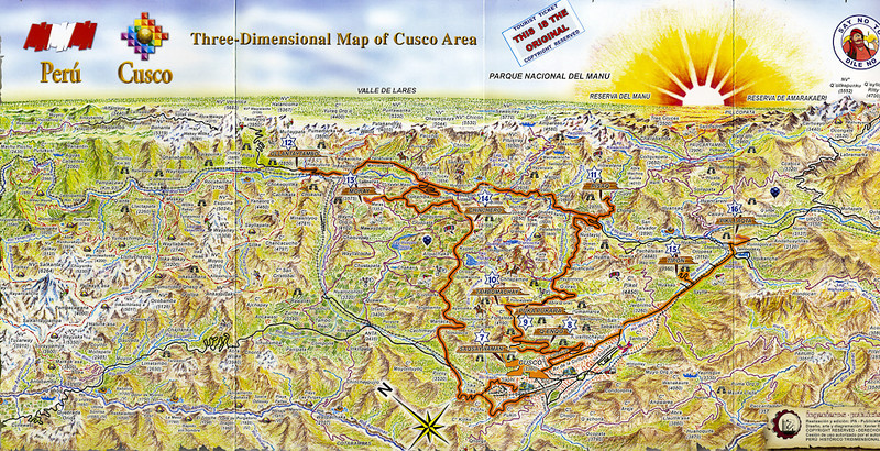 Cusco southern loop eenusa this tourist map shows the general area we will be touring while were in sciox Gallery
