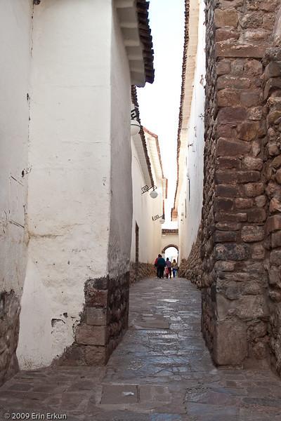 Plaza de las Nazarenas - Siete Culebras (Seven Snakes)<br /> This narrow alley leads from our hotel to Plaza de las Nazarenas.