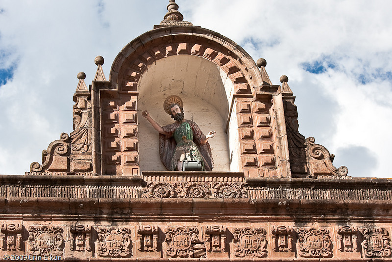 Iglesia del Triunfo (Church of the Triumph)<br>Detail from the roofline.
