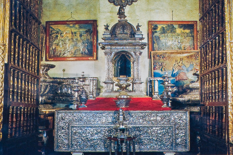 Cusco Cathedral (Cathedral of Santo Domingo)<br>Chapel with Silver Objects<br> (Photography not allowed; scanned from postcard.)