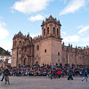 Procession of Señor de Los Temblores <br /> Cusco Cathedral - two hours to go before the crucifix is returned to the cathedral ... the crowds are now increasing in leaps and bounds.