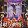 Cusco Cathedral (Cathedral of Santo Domingo)<br>Señor de Los Temblores (Lord of the Earthquakes) Legend has it that a crucifix was paraded around Cusco during the earthquake of 1650. When the tremors stopped shortly thereafter, the faithful credited the Señor with averting a major disaster.  (Photography not allowed; scanned from postcard.)