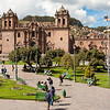 Cusco Cathedral (Cathedral of Santo Domingo)<br>Construction of the cathedral started in 1550; it took nearly 100 years to complete. (The Church to the right is Iglesia del Triunfo - the Church of the Triumph.)